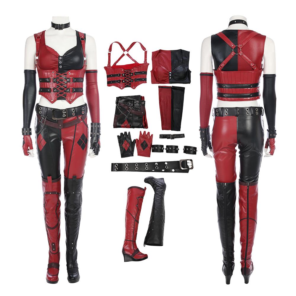 DC Movie Joker Quinn Cosplay Halloween Costume Set Women/'s XS-XL