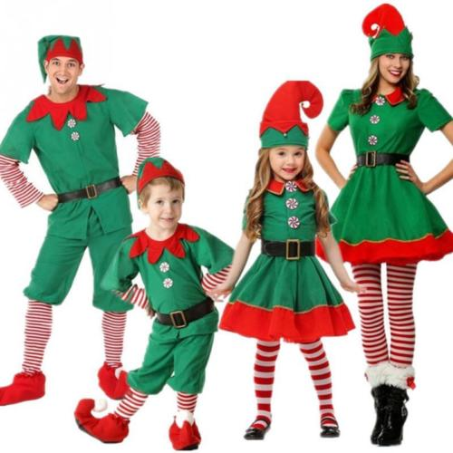 Adult Womens Mens Elf Costume Santa/'s Little Helper Christmas Xmas Fancy Dress