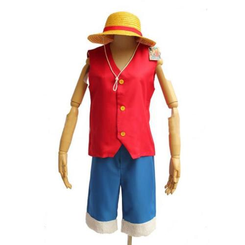 One Piece Monkey D Luffy Cosplay Sea Poacher Anime Party Halloween Costume