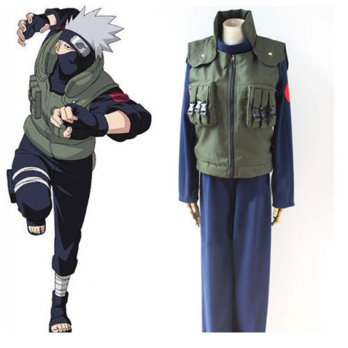 Anime Naruto Cosplay Hatake Kakashi Hokage Vest Jonin Ninja Costume Halloween