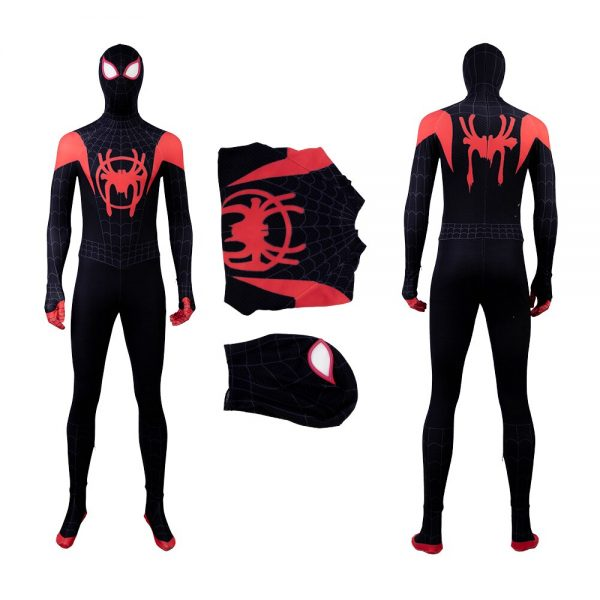 MANLUYUNXIAO Spiderman Cosplay Halloween Costume For Kids Adult Men Marvel Spider Man Into The Spider Verse Jumpsuit Custom Made