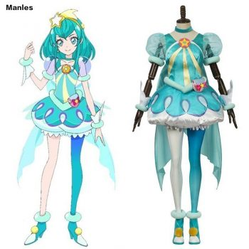Anime Star Twinkle Pretty Cure Costume Hagoromo Lala Cure Milky Cosplay Yes Pretty Cure 5 HUGtto Carnival Halloween Dress Girl