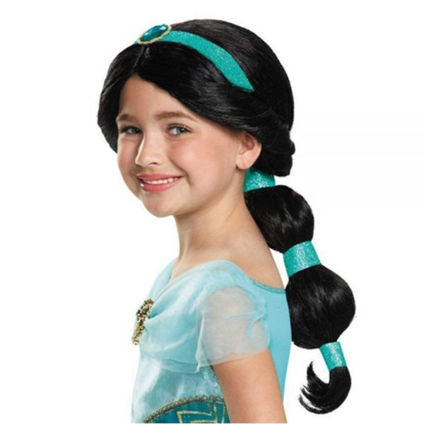 FindPitaya Christmas Halloween Party Girls Fancy Aladdin Dress Jasmine Cosplay Costume with Wig Hair and hat