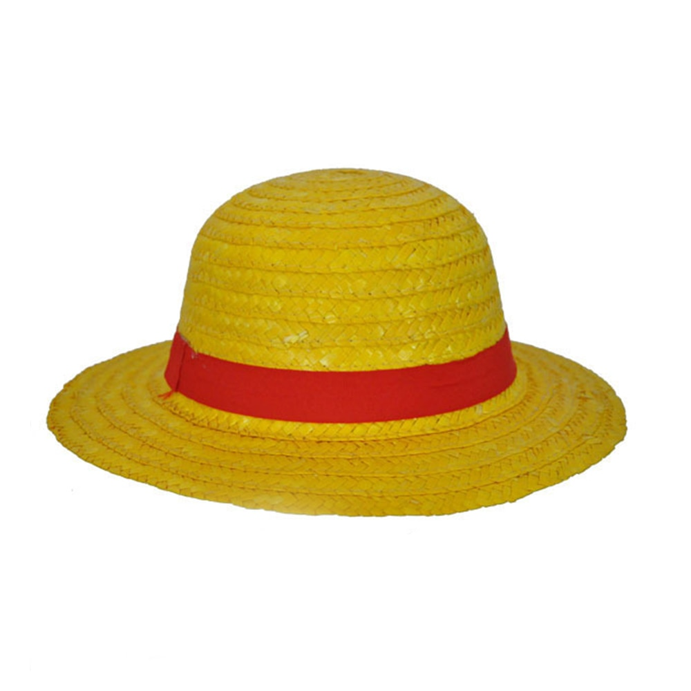 One Piece Luffy Hat Japanese Anime Cosplay Straw Hats Cartoon Cap Cute Breathable Boater Beach ...