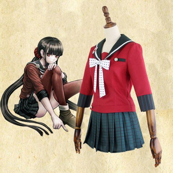 New 6PCS Danganronpa V3 Killing Harmony Harukawa Maki School Uniform women girl Cosplay Costume set and wig Halloween Costume