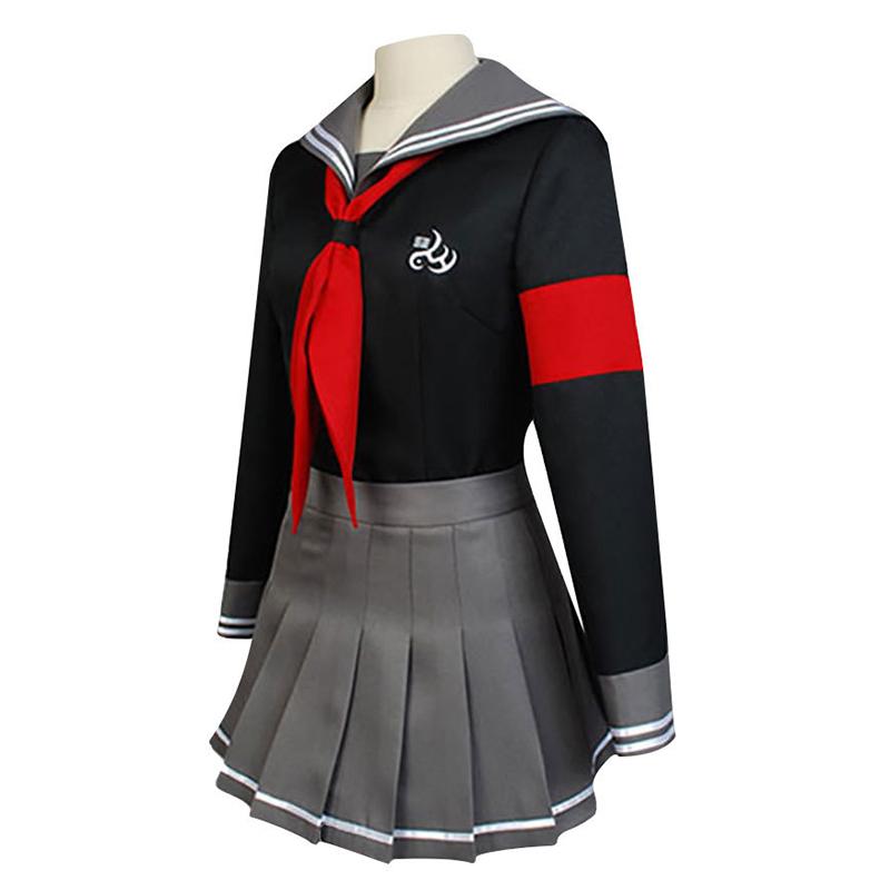 Anime Dangan-Ronpa Peko Pekoyama Danganronpa Cosplay Costume Schlool JK Uniform Sailor Suit Tops Skirt Red Bow-Tie Stock - CatchCostume