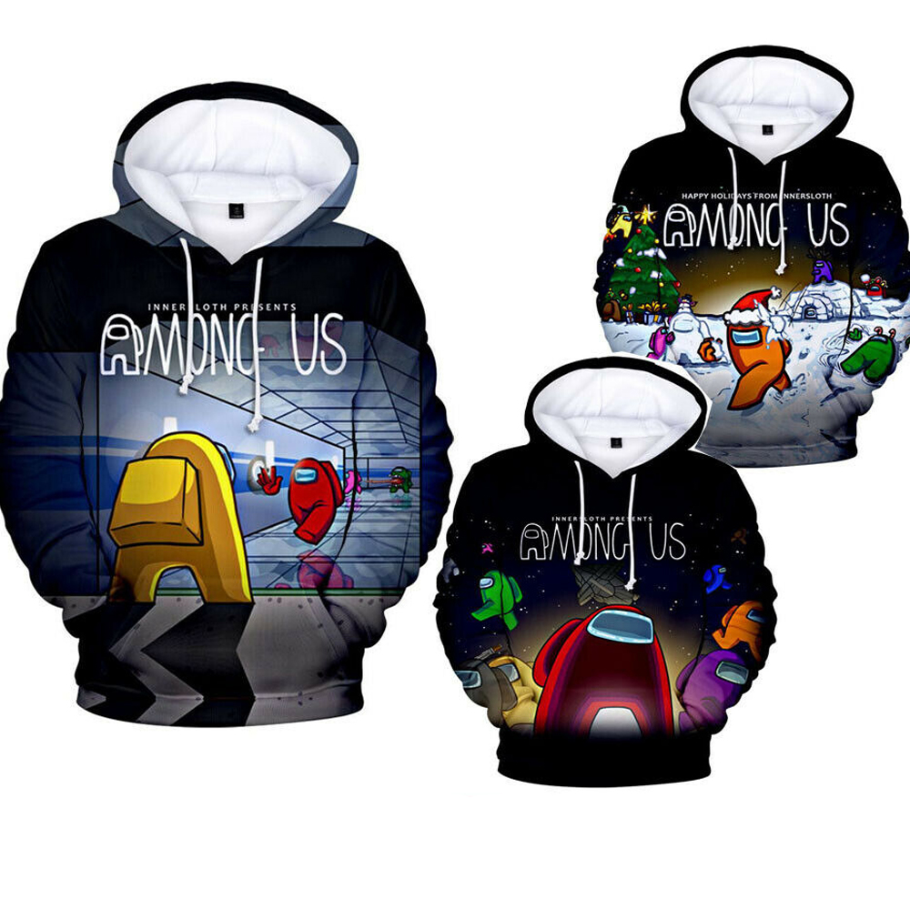 Among Us Hoodie Sweater Party Hooded Jumper Cosplay ...